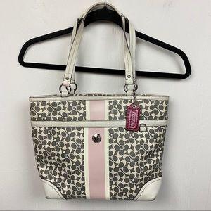 Coach Chelsea Heritage Stripe Signature Handbag